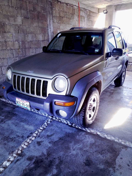 Jeep Liberty Sport 2003 4x4, 6 Cilindros, Color Verde.