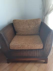 Poltrona Em Fibra - Assento E Encosto Em Tecido