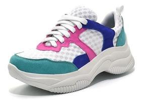 Tênis Feminino Sneakers Chunky Varias Cores Sola Alta