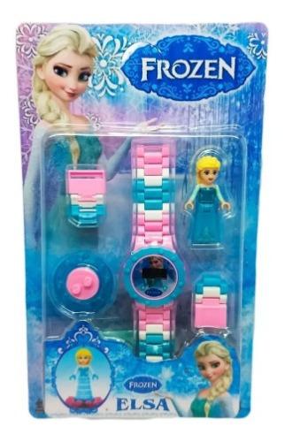 Relógio Infantil Frozen Elsa Princesa + Boneca E Acessórios