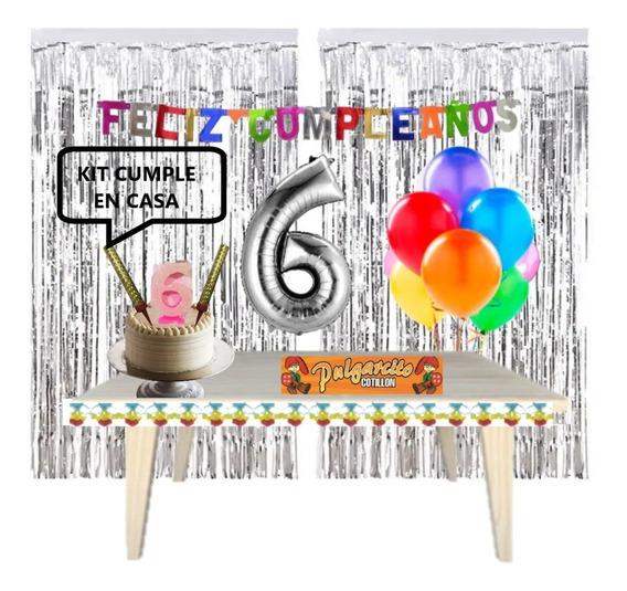 Kit Cumpleaños En Casa - Decoración Para Cumple Virtual