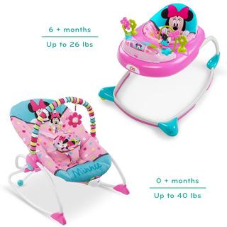 Silla Mecedora Vibradora Y Caminador Minnie Mouse Disney