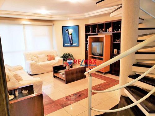 Imagem 1 de 29 de Cobertura Com 4 Dormitórios À Venda, 230 M² Por R$ 790.000,00 - Praia Das Pitangueiras - Guarujá/sp - Co0315