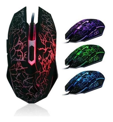 Mouse Gamer Colores Alámbrico Luces Led 6 Botones