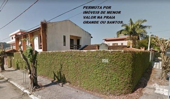 Sobrado Canto Do Forte Com 5 Dormitórios À Venda, 314 M² Por R$ 990.000. Permuta Por Imóveis Menor Valor Na Praia Grande Ou Santos - So0246
