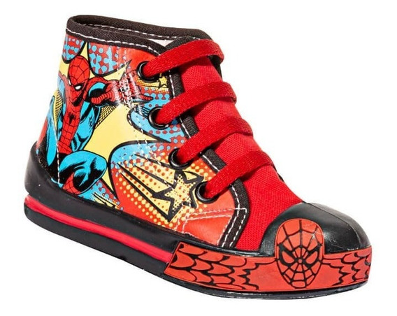 Tenis Bota Casual Bubble Gummers Rojo Spiderman Textil Yafet