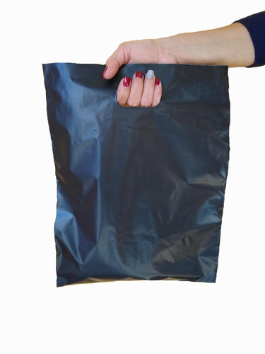 Bolsas Riñon Lisas Gruesas 30x40 Negras Pack X50u