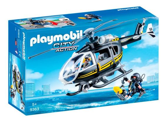 Playmobil City Action - Unidade Tática Com Helicóptero - 936