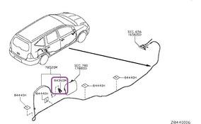 Trava Portinhola Tanque Nissan Livina Grand Cod: 78827-ed00b