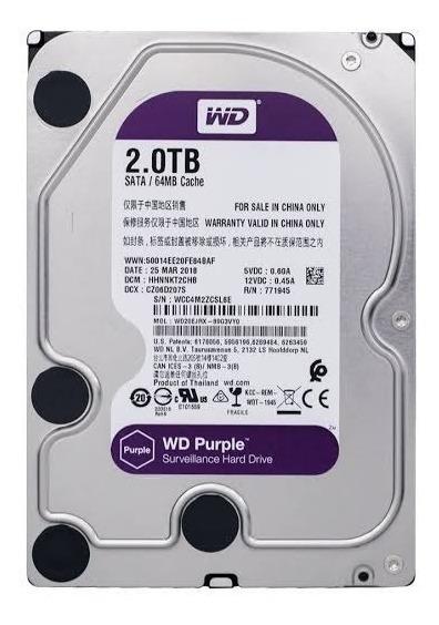 Hd 2tb Purple Wd Wd20ejrx (wd20purx) Com Nota Fiscal