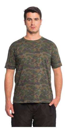 Camisa Camuflado Marrom Tamanho M Algodão Ótima Qualidade