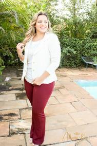Blazer Terninho Fashion Plus Size Casaquinho Fem Social Xxg