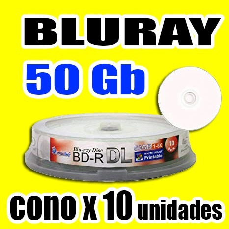 Oferta!!!  Disco Bluray De 50 Gb, Cono X 10 Unidades
