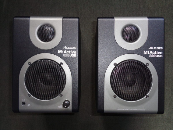 Alesis M1 Active 320 Usb. Monitor + Placa De Audio