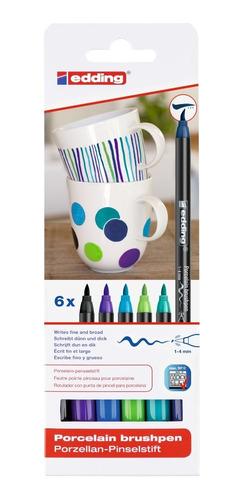 Set Marcador Para Cerámica Colores Fríos Edding 4200 X 6 Uni