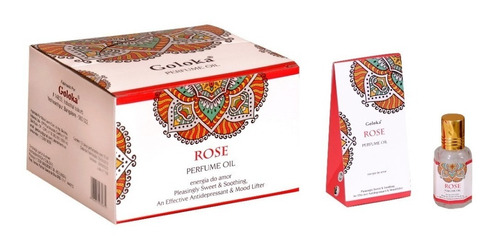 Óleo Perfumado Indiano Goloka Rosa 10ml - Energia Do Amor