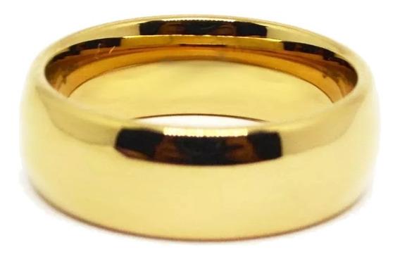 Aneis De Tungstenio 10 Camadas De Banho Ouro (unidade)