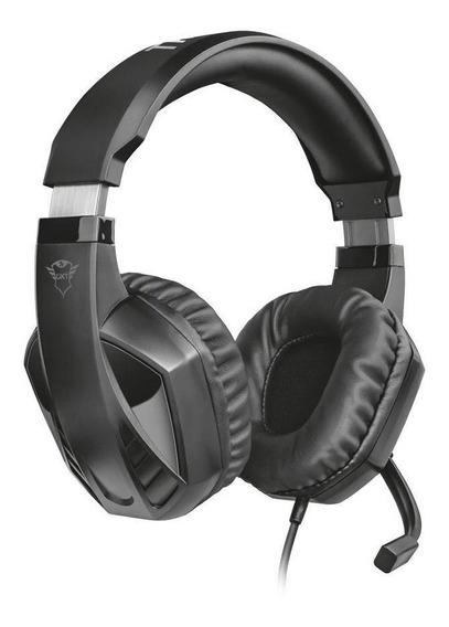 Headset Gamer Trust Gxt Celaz Preto Com Fio Multiplataforma
