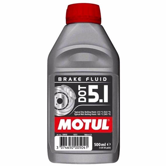 Fluído De Freio Motul Dot 5.1 500ml Competição Turbo Óleo