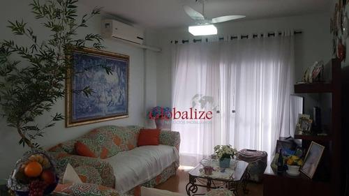 Apartamento Para Alugar, 169 M² Por R$ 3.000,00/mês - Campo Grande - Santos/sp - Ap0796