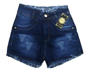 Roupas Femininas Kit De 03 Bermuda Jeans Feminino Cós Médio
