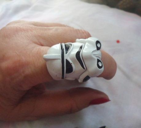 Anel Storm Trooper- Stars Wars Maravilhoso Tamanho Unico!