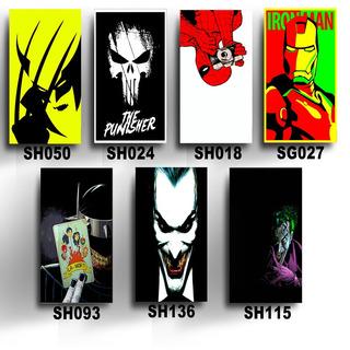 Kit 7 Placas Decorativas Mdf 20x30 Super Heróis Marvel Dc Hq
