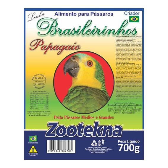 Ração Zootekna Brasileirinhos Para Papagaios - 700g