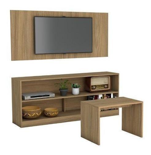 Mueble Panel Pantalla+ Mesa Centro+ Rack Combo Br 387-151