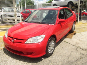 Honda Civic 2004 Ex Sedan Rojo