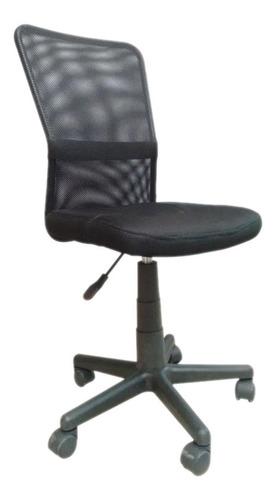 Imagen 1 de 2 de Silla de escritorio ADS Paeroa  negra con tapizado de mesh
