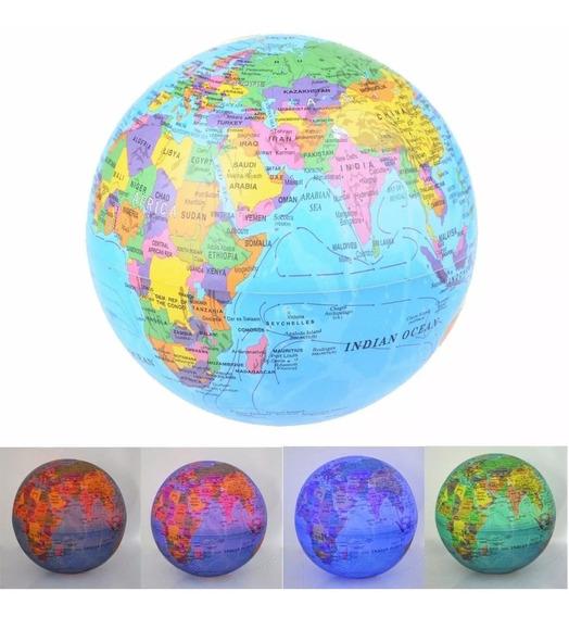 Globo Terraqueo Magico Gira En Su Eje Mapa Mundi Velador Luz