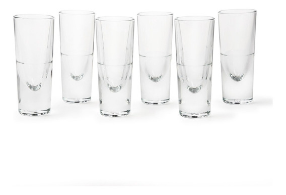 Juego De 6 Vasos Tequileros Acatic 125ml - Transpararente