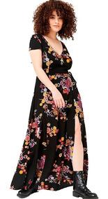 Vestido Largo Romper Mono Short Floreado By Forever 21 T 3x