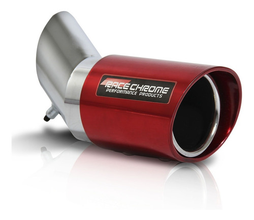 Ponteira Escapamento Aluminio Angular 3 Polegadas Vermelha