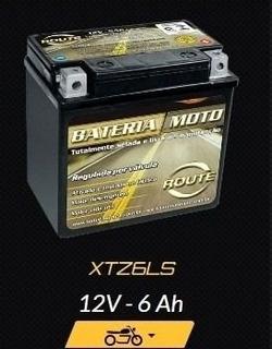 Bateria Route Xtz6ls Yamaha Factor Ybr 125 E K Ed 12v 6 Ah