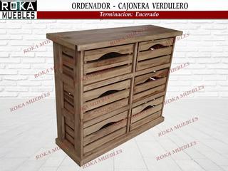 Ordenador Cajonera Verdulero Con 6 Cajones Encerada