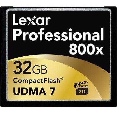 Cartão Memória Lexar Compact Flash 32gb 800x