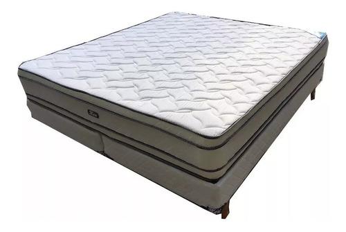 Colchon Sommier 2 X 2 Resortes Con Doble Pillow Somier
