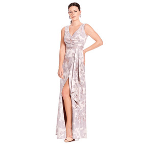a44d59875 Afrodita Vestido Largo Asimétrico Con Abertura Frontal