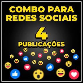 Combo Redes Sociais - Publicação Para Facebook Instagram