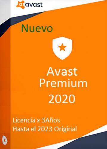 Avast Premium 2020 Original Para Varios Pc Hasta 2023