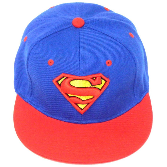 Superman Gorra Bordada 3d Broche Snapback Ajustable Clark