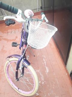 Bicicleta Rodado 20 Seminueva. Ideal Para Nena