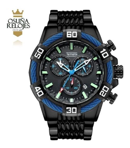 Relógio Masculino De Luxo Temeite Bolt Original