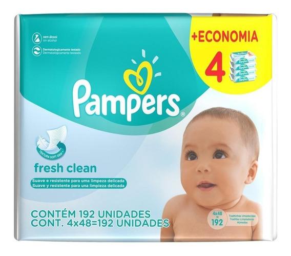 Toalhinhas Umedecidas Pampers Fresh Clean - 192 Unidades