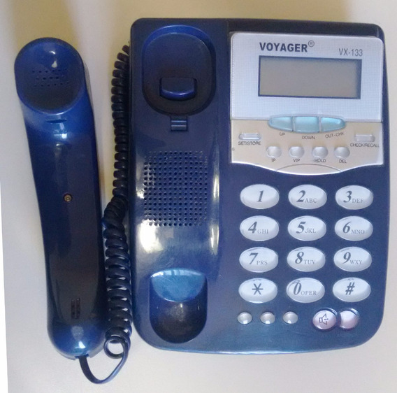 Telefone Antigo - Decoração Ou Peças - Voyager Vx-133 (az01)