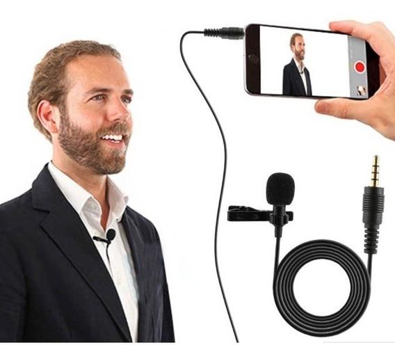 Microfone Youtuber Celular Smartphone Lapela Android iPhone