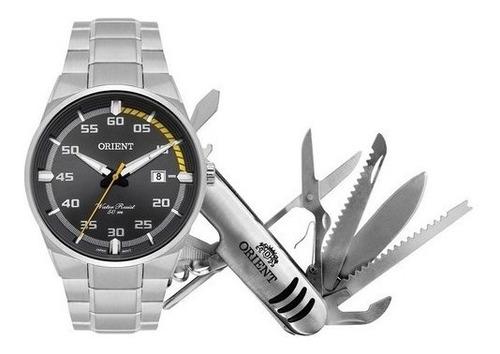 Relógio Orient Masculino Aço Prateado Calendário