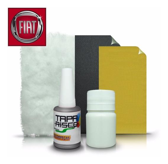 Tinta Tapa Risco + Kit Polimento Fiat Cinza Scandium Met.